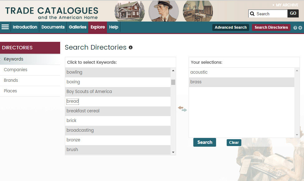 Screenshot showing the Search Directories page in use.